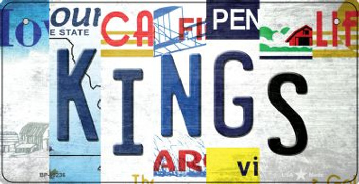 Kings Strip Art Novelty Metal Bicycle Plate BP-13236