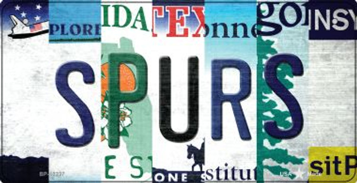 Spurs Strip Art Novelty Metal Bicycle Plate BP-13237
