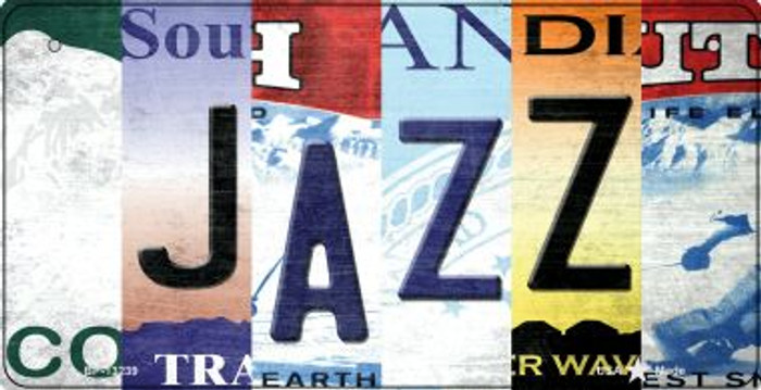 Jazz Strip Art Novelty Metal Bicycle Plate BP-13239