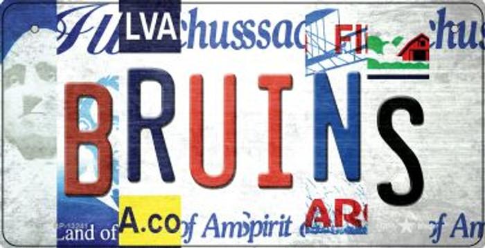 Bruins Strip Art Novelty Metal Bicycle Plate BP-13241