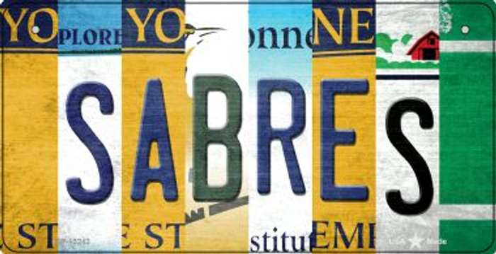 Sabres Strip Art Novelty Metal Bicycle Plate BP-13242