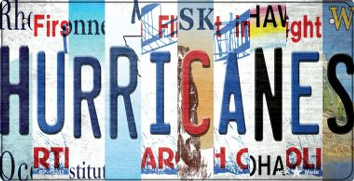 Hurricanes Strip Art Novelty Metal Bicycle Plate BP-13243