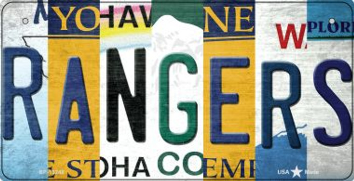 Rangers Strip Art Novelty Metal Bicycle Plate BP-13248