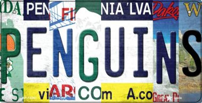 Penguins Strip Art Novelty Metal Bicycle Plate BP-13251