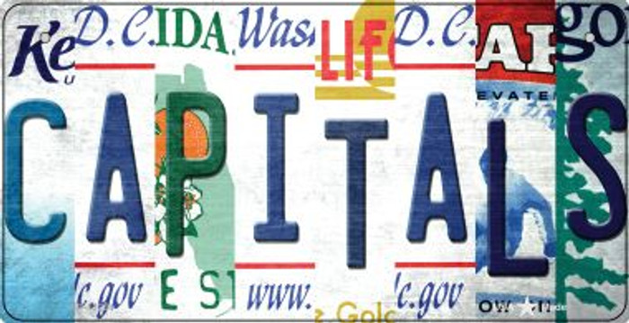 Capitals Strip Art Novelty Metal Bicycle Plate BP-13254