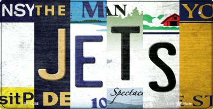 Jets Strip Art Novelty Metal Bicycle Plate BP-13255