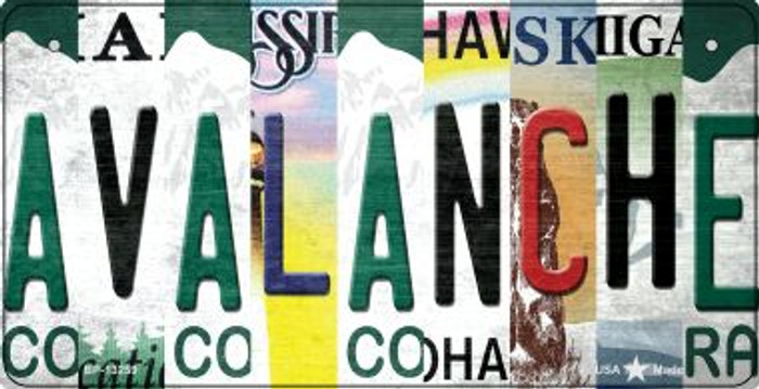 Avalanche Strip Art Novelty Metal Bicycle Plate BP-13259