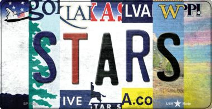Stars Strip Art Novelty Metal Bicycle Plate BP-13261