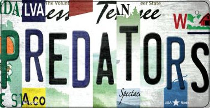 Predators Strip Art Novelty Metal Bicycle Plate BP-13266