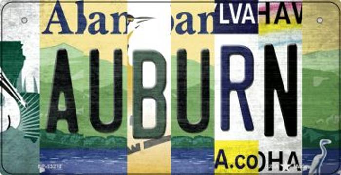 Auburn Strip Art Novelty Metal Bicycle Plate BP-13273