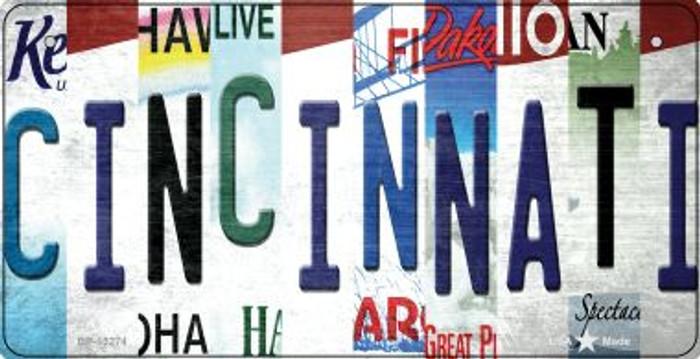 Cincinnati Strip Art Novelty Metal Bicycle Plate BP-13274