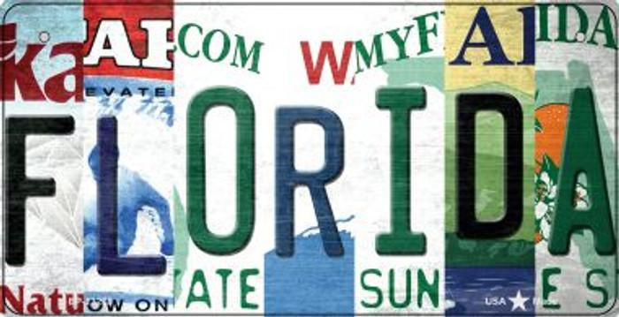 Florida Strip Art Novelty Metal Bicycle Plate BP-13278