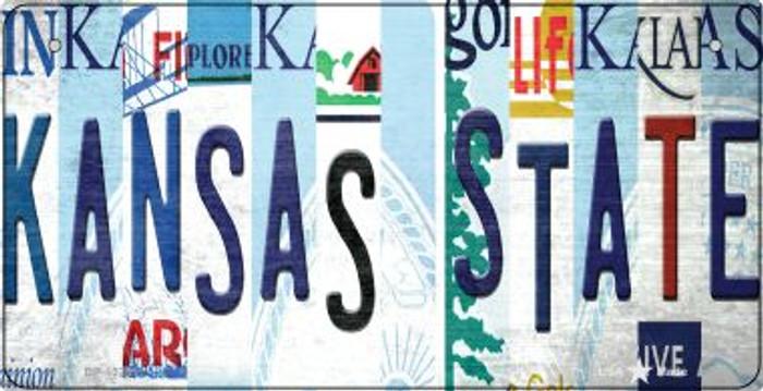Kansas State Strip Art Novelty Metal Bicycle Plate BP-13281
