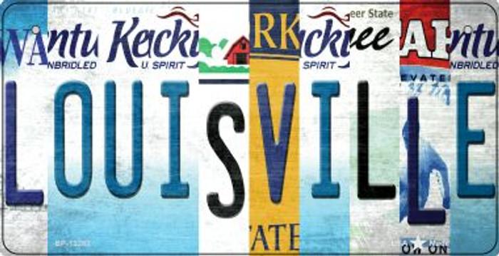 Louisville Strip Art Novelty Metal Bicycle Plate BP-13283