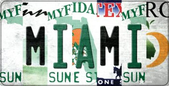 Miami Strip Art Novelty Metal Bicycle Plate BP-13287