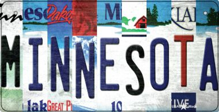 Minnesota Strip Art Novelty Metal Bicycle Plate BP-13290