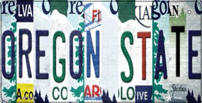 Oregon State Strip Art Novelty Metal Bicycle Plate BP-13295