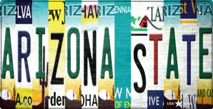 Arizona State Strip Art Novelty Metal Bicycle Plate BP-13305