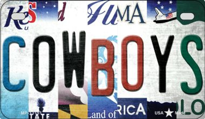 Cowboys Strip Art Novelty Metal Motorcycle Plate MP-13151