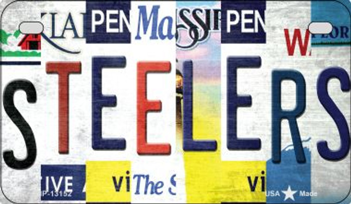 Steelers Strip Art Novelty Metal Motorcycle Plate MP-13152