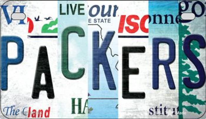 Packers Strip Art Novelty Metal Motorcycle Plate MP-13153