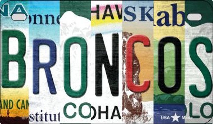 Broncos Strip Art Novelty Metal Motorcycle Plate MP-13155