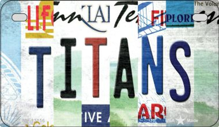 Titans Strip Art Novelty Metal Motorcycle Plate MP-13156