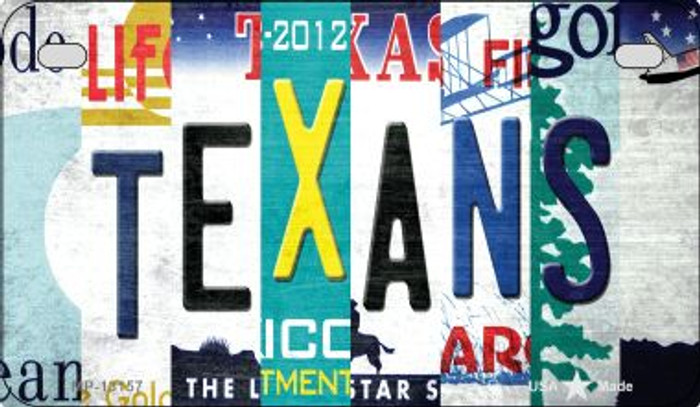 Texans Strip Art Novelty Metal Motorcycle Plate MP-13157
