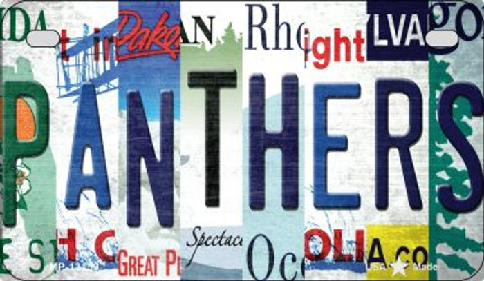 Panthers Strip Art Novelty Metal Motorcycle Plate MP-13159