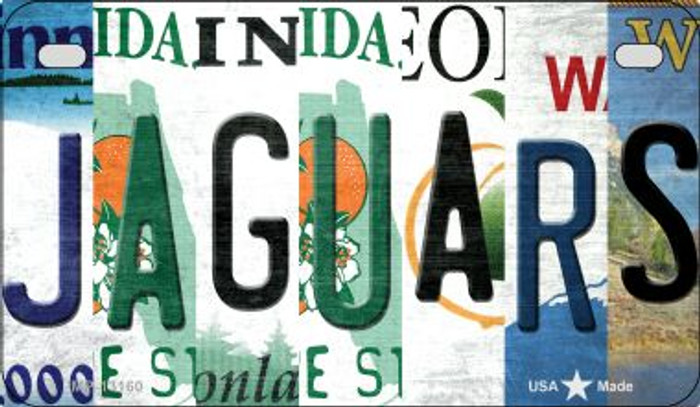 Jaguars Strip Art Novelty Metal Motorcycle Plate MP-13160