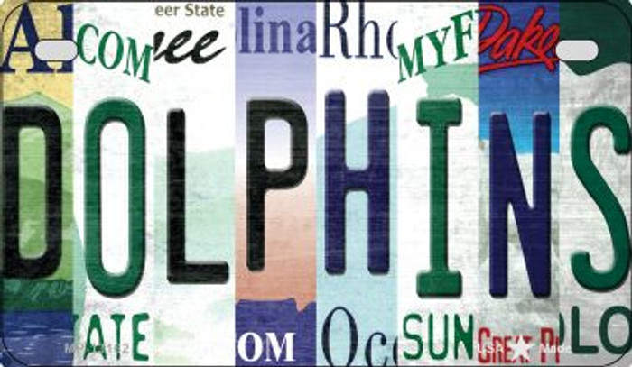 Dolphins Strip Art Novelty Metal Motorcycle Plate MP-13162