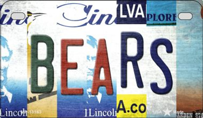 Bears Strip Art Novelty Metal Motorcycle Plate MP-13163