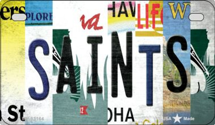 Saints Strip Art Novelty Metal Motorcycle Plate MP-13164