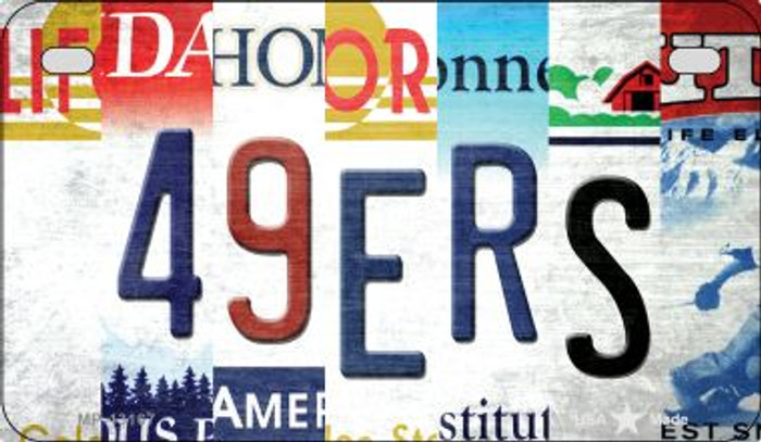 49ers Strip Art Novelty Metal Motorcycle Plate MP-13167