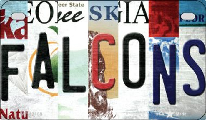 Falcons Strip Art Novelty Metal Motorcycle Plate MP-13168