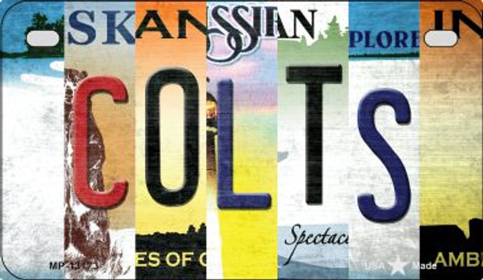 Colts Strip Art Novelty Metal Motorcycle Plate MP-13173