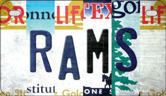 Rams Strip Art Novelty Metal Motorcycle Plate MP-13177