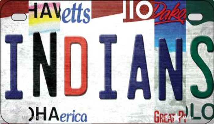 Indians Strip Art Novelty Metal Motorcycle Plate MP-13190