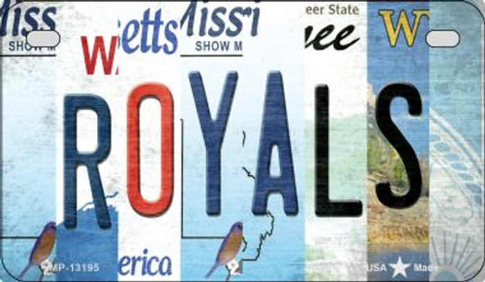 Royals Strip Art Novelty Metal Motorcycle Plate MP-13195
