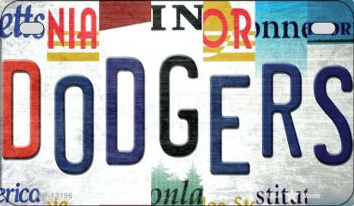 Dodgers Strip Art Novelty Metal Motorcycle Plate MP-13196