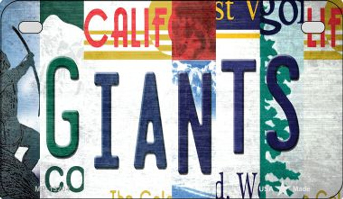 Giants Strip Art Novelty Metal Motorcycle Plate MP-13204