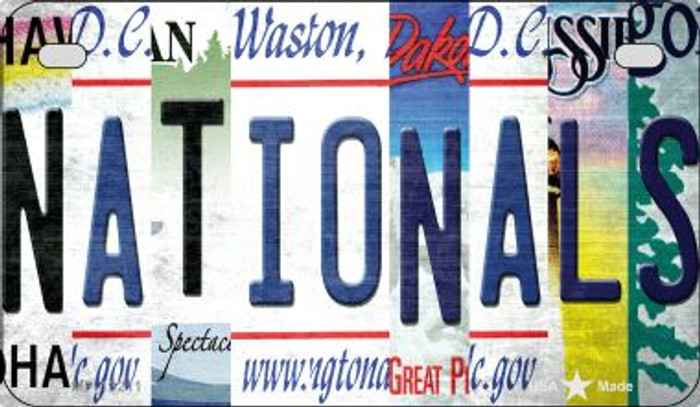 Nationals Strip Art Novelty Metal Motorcycle Plate MP-13211
