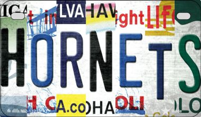 Hornets Strip Art Novelty Metal Motorcycle Plate MP-13216