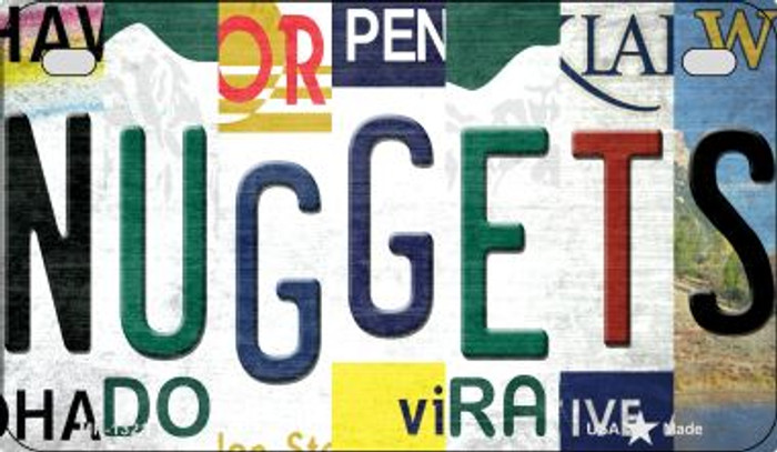 Nuggets Strip Art Novelty Metal Motorcycle Plate MP-13218