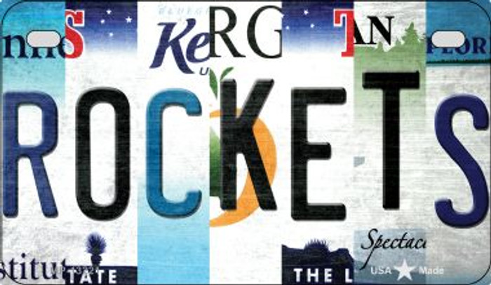 Rockets Strip Art Novelty Metal Motorcycle Plate MP-13221