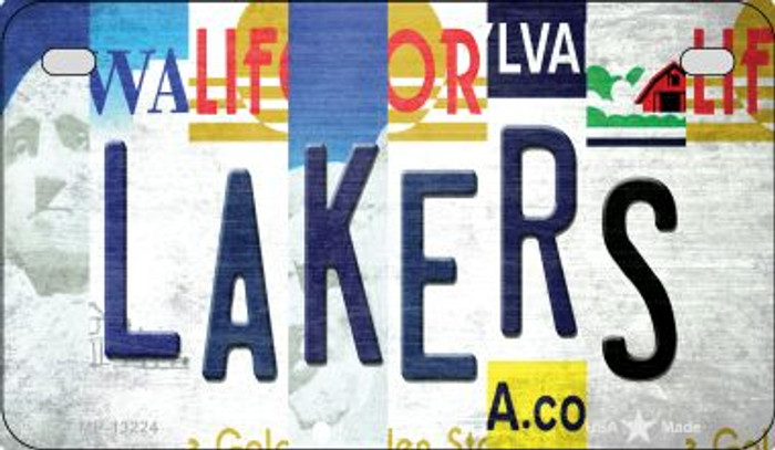 Lakers Strip Art Novelty Metal Motorcycle Plate MP-13224