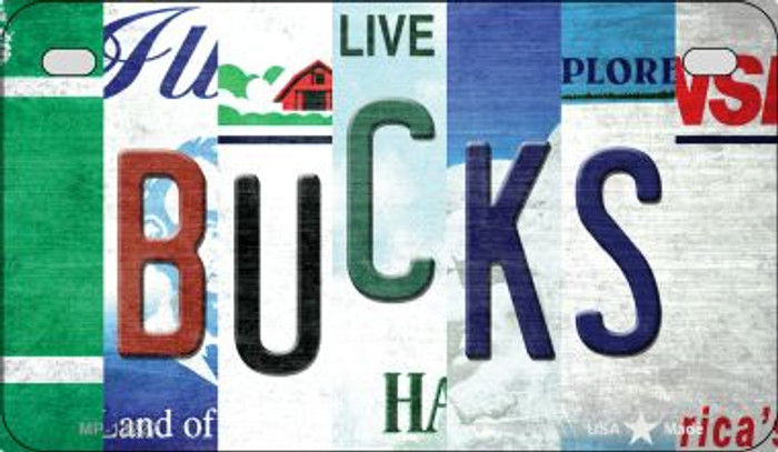 Bucks Strip Art Novelty Metal Motorcycle Plate MP-13227