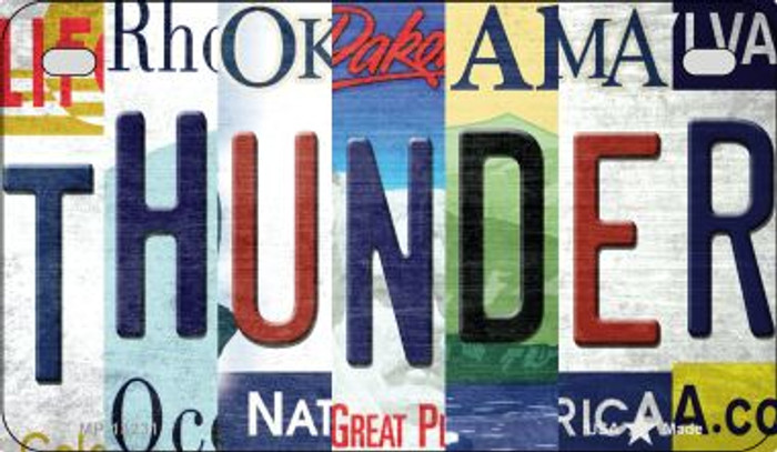 Thunder Strip Art Novelty Metal Motorcycle Plate MP-13231