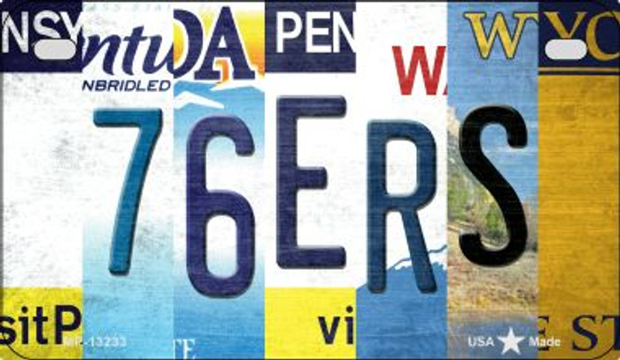 76ers Strip Art Novelty Metal Motorcycle Plate MP-13233