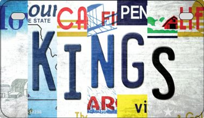 Kings Strip Art Novelty Metal Motorcycle Plate MP-13236
